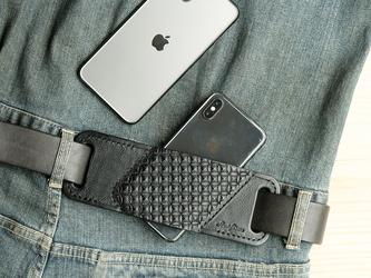 ヒップホルスター iPhone 6-8/X/XS/XR/11/11pro/SE/12/12mini/12pro - スタンピングの画像