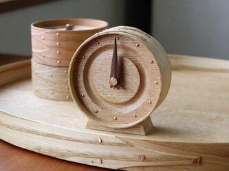 曲げ木の置き時計(OAK)の画像