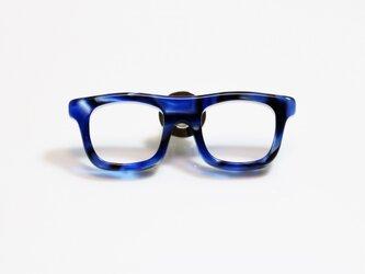 メガネラぺルピン(ウェリントン、Mサイズ、長針、青)の画像