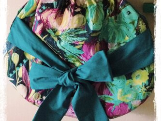 花柄リボンバッグの画像