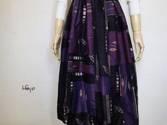 アンティーク・キモノ de コラージュ ロングスカートの画像