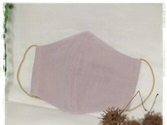 (L)ワイヤ入り立体マスク*グレイッシュピンクの画像