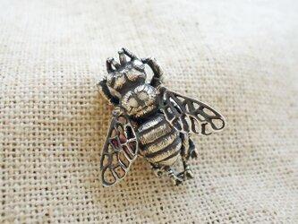 ミツバチのピアス 銀製(シルバー925)の画像