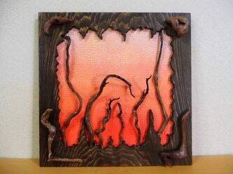 アートパネル 森の夕暮れの画像
