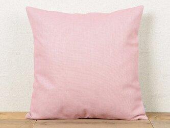 クッションカバー 45×45cm 北欧風 ピンク プレーンカラー 天然リネン jubileecushioncc124ymの画像