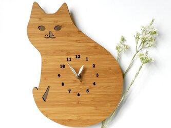 CAT 猫の掛け時計の画像