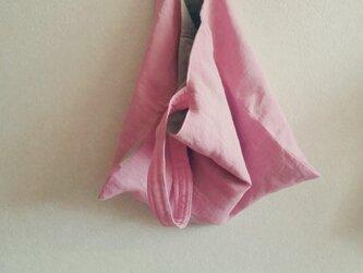 さくらトート  天日干しリネン ピンクの画像