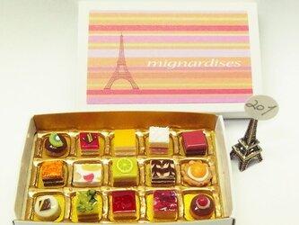 マッチ箱の中のミニチュア フランスのお菓子201の画像