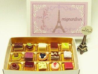 マッチ箱の中のミニチュア フランスのお菓子202の画像
