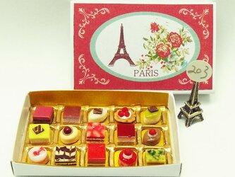 マッチ箱の中のミニチュア フランスのお菓子203の画像