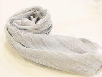 リネンストール 手織りの画像