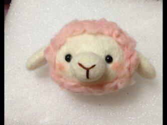 羊毛フェルト ぷくぷく羊ちゃん①の画像