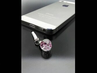 Bijou glass Ball ストラップorイヤホンジャック ~桜カラー~の画像