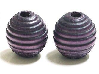 【10個入り】16mmLavenda Purpleラベンダーパープルカラー円形ウッド製ビーズ、パーツの画像