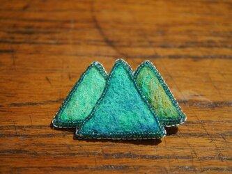 山のキラメキ ブローチ(三角山)の画像