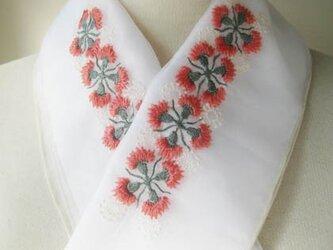 半衿・刺繍半衿・カーネーションの画像