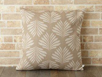 クッションカバー 45×45cm 植物 インテリア リネン リーフナチュラル jubileecushionse392aの画像