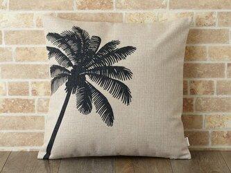 クッションカバー 45×45cm ハワイ 南国 サーフ リネン パームツリー jubileecushionse386aの画像