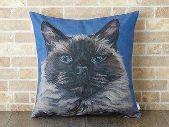 ペットクッションカバー 45×45cm 猫 ネコ バーマンキャット jubileecushionca002の画像