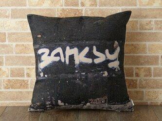 クッションカバー 45×45cm バンクシー モノクロ Banksy ロゴ jubileecushionba014の画像
