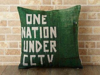 クッションカバー 45×45cm Banksy 天然リネン アンダーCCTV jubileecushionba009の画像