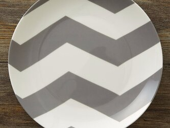 デザイン グレーシェブロン 20cm プレート 2枚セット jubileeplatex106の画像
