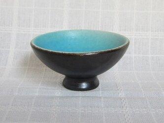 トルコブルーのデザートカップの画像