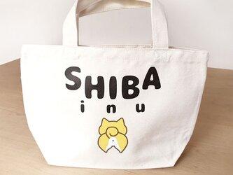 柴犬さんお散歩バッグ コットントートバッグ Shiba inuの画像