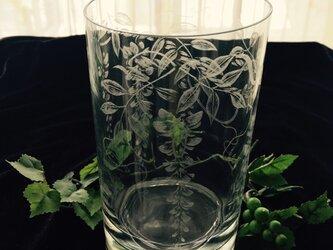 藤の花器 〜手彫りガラス〜の画像