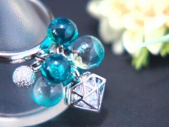 ダイヤのリング アクアグリーンの画像