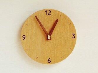 直径24cm 掛け時計 オーク【1711】の画像
