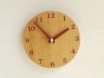 直径22.6cm 掛け時計 オーク【1712】の画像