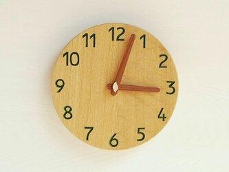 直径22.6cm 掛け時計 オーク【1713】の画像