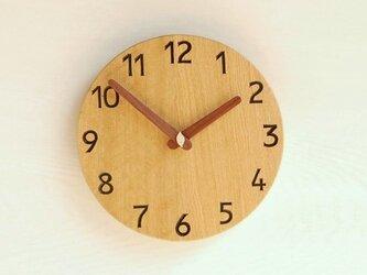 直径22.6cm 掛け時計 オーク【1714】の画像