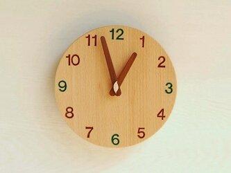 直径20cm 掛け時計 ブナ【1715】の画像