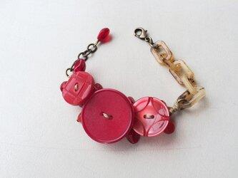 no.9  ヴィンテージボタンのブレスレットの画像
