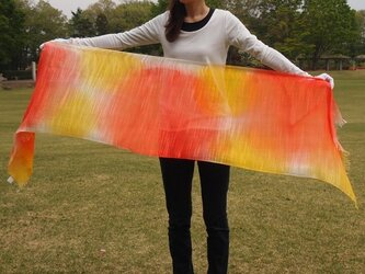 国産シルク100%手描き染めストール -Ye&Ora-の画像