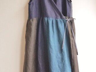 【ネロ様オーダー】ヨーロッパリネン5色カシュクールドレスの画像