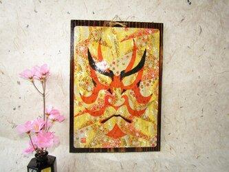 ✨くるみ工房✨ 貴方と作る壁掛け加工 手描き歌舞伎隈取の画像