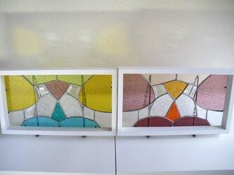 ステンドグラスパネルセット(パープルとイエロー)の画像