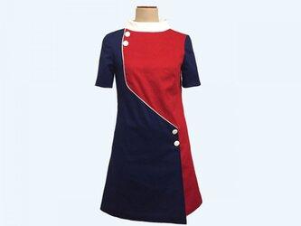 「plein soleil」retro one-piece dress jeanneの画像