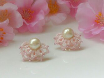 【送料無料】Butterfly wingイヤリング #桜色ピンクの画像