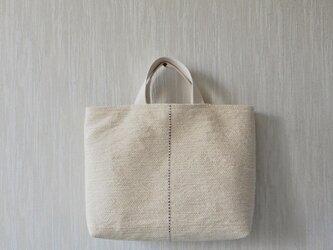 裂き織りのバッグ バニラ LLの画像