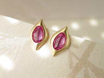 K18 Pink Sapphire Pierceの画像