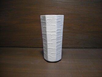 白釉線描七角タンブラーの画像
