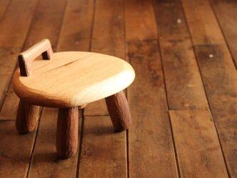 小椅子 (くるみ-ウォールナット)の画像