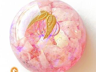 [受注制作]大天使ミカエルのユニバーサルハート オルゴナイト do1003heartam00021の画像