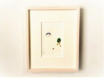 「リンゴの家」イラスト原画/額縁入りの画像