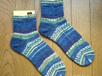 手編み靴下 opal  Hundertwasser 1437の画像