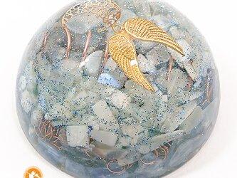 [受注制作]月の神秘 大天使ハニエルのオルゴナイト ムーンストーン カイヤナイト do1001ahmookya00014の画像